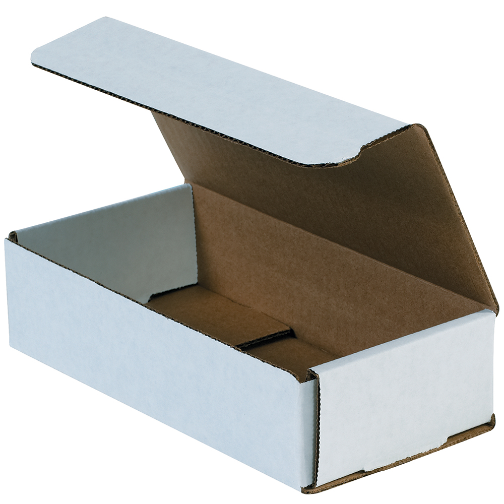Box Partners Corrugated Mailers,8x4x2,White,50/BDL - BXP M842