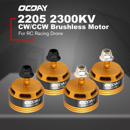 OCDAY 2205 2300KV 3-4S CW/CCW Brushless Motor for RC Racing Drone QAV250 - image 3 de 8