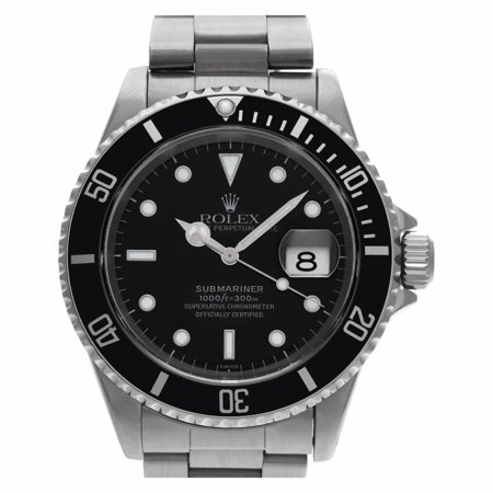 Pre-Owned Rolex Submariner 16610 Steel Watch (Certified Authentic & Warranty)