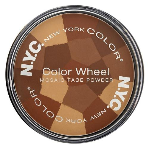 New York Color Color Wheel Mosaic Face Powder, All Over Bronze Glow 0.32 oz (Pack of 6)