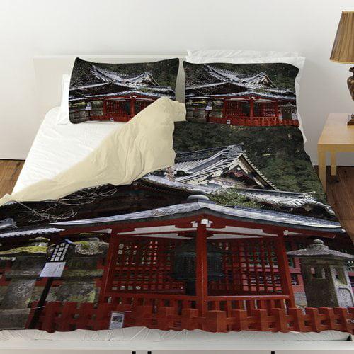 Manual Woodworkers & Weavers Nikko Monastery Building Duvet Cover