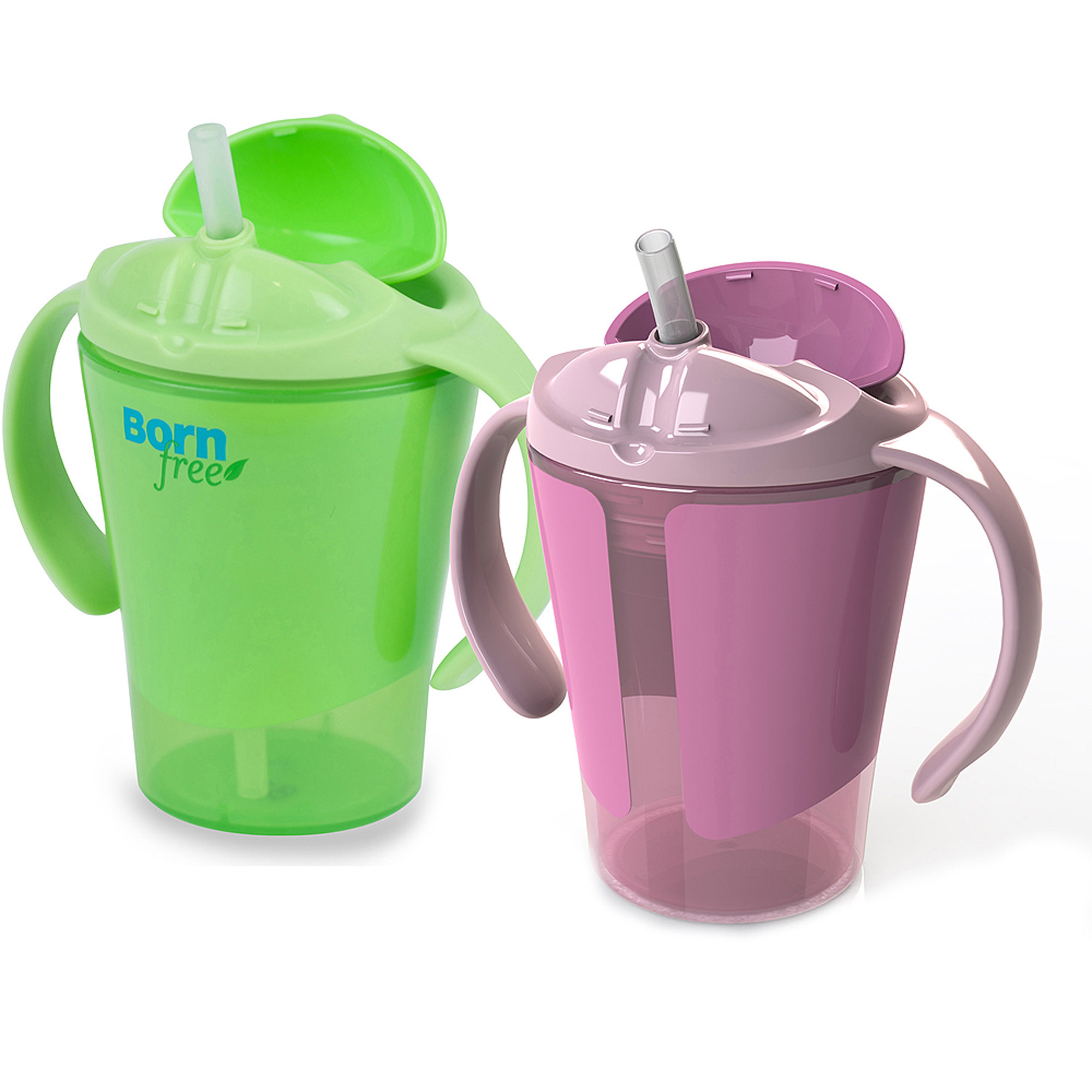 Born Free 6 oz Training Straw Cup, BPA-Free, 2-Pack