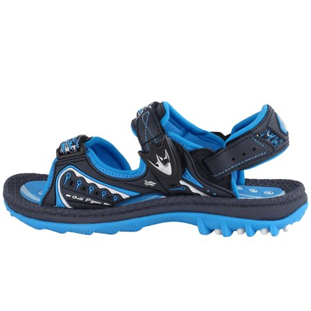 "GP9180 Easy ""SNAP LOCK"" Magnetic Closure Light Weight Outdoor Water Sandals for Kids (Size:T7.5-K6.5)"
