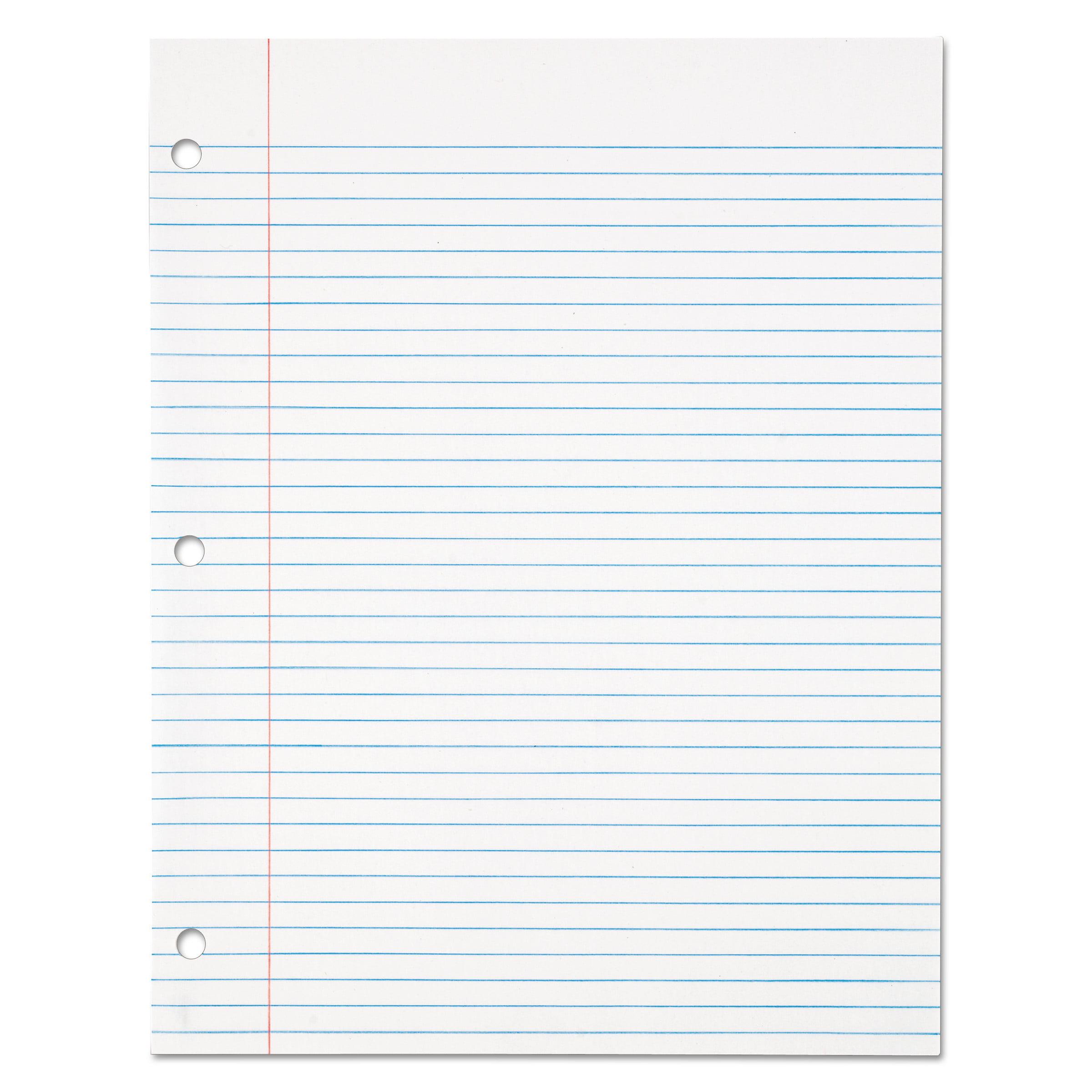 TOPS Filler Paper, 3H, 16 lb, 8 1/2 x 11, College Rule, White, 500 Sh/Pack