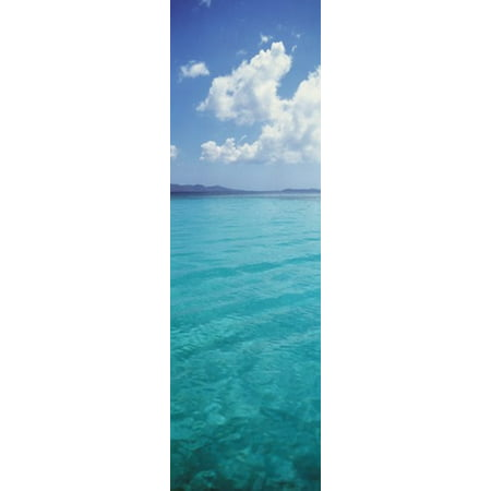 Clouds over the sea St Thomas US Virgin Islands Canvas Art - Panoramic Images (38 x (History Of St Thomas Us Virgin Islands)