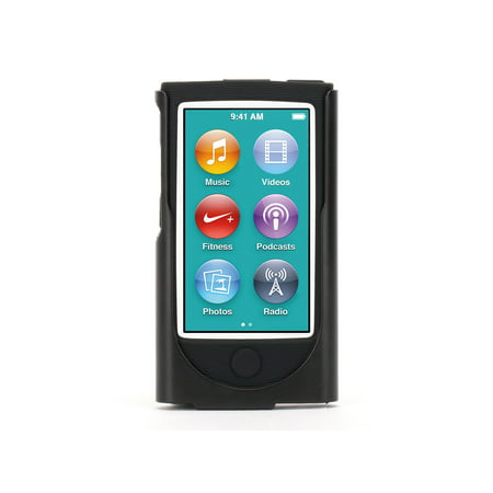 Trio Ipod Nano Leather Case - Griffin Black 2-in-1 Belt Clip case for iPod nano (7th gen.), Cushioned and protected