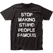 Impact Originals Making Stupid People Famous Adult Fitted Jersey T-Shirt Tee