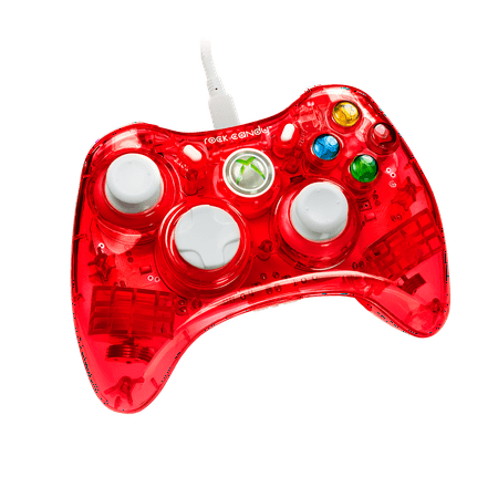 PDP Rock Candy Xbox 360 Wired Controller, Stormin' Cherry, 037-010-NA-RD (Pink Wired Xbox 360 Controller)