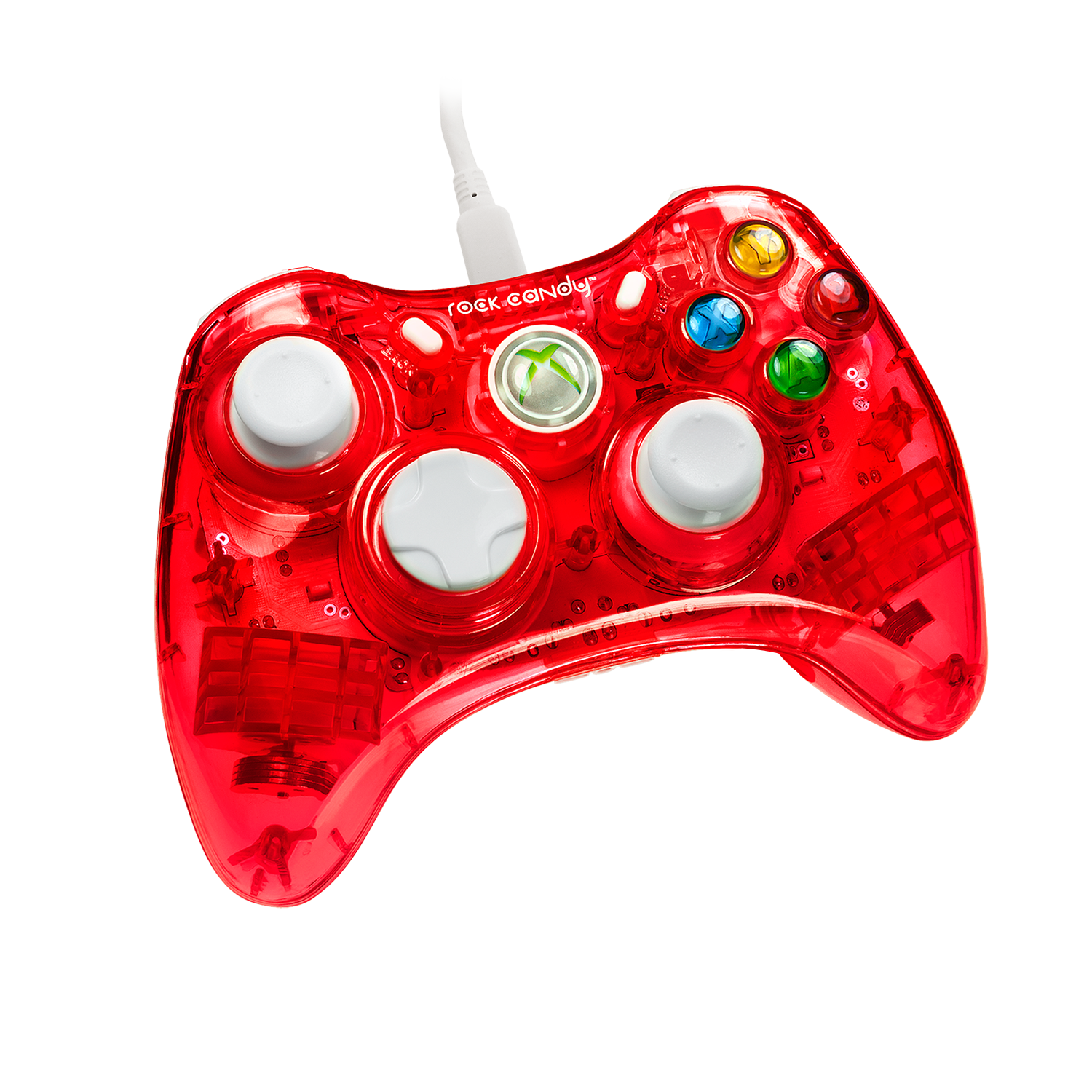 PDP Rock Candy Xbox 360 Wired Controller, Stormin' Cherry, 037-010-NA-RD