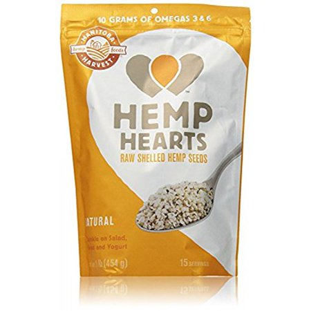 Hemp Hearts Raw Shelled Hemp Seeds  Natural  1 Pound   Packaging May Vary  Great Tasting Hemp Hearts Have A Slightly Nutty Taste  Similar To A Sunflower Seed    By Manitoba Harvest