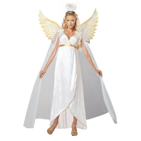 Adult Guardian Angel Costume - Angel Wings Costume For Women