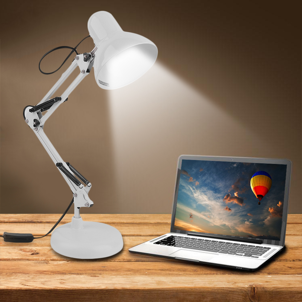 Click here to buy Adjustable E27 Swing Arm Drafting Design Office Studio Table Desk Lamp Light by music.