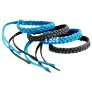 Kinven Original Mosquito Insect Repellent Bracelet Waterproof Natural DEET Free Insect Repellent Bands, Light Blue/Black