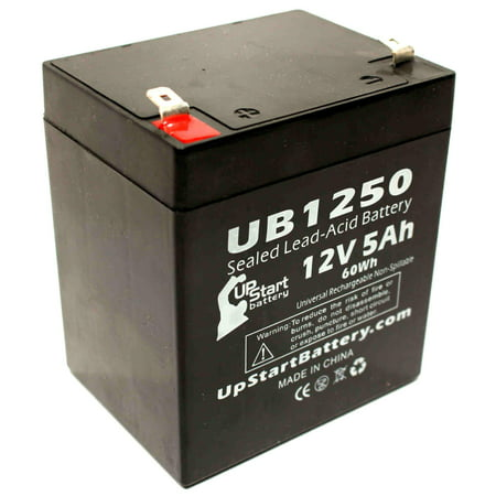ADT Security Alarm Safewatch Pro 3000EN Battery Replacement - UB1250 Universal Sealed Lead Acid Battery (12V, 5Ah, 5000mAh, F1 Terminal, AGM, SLA) - Includes TWO F1 to F2 Terminal Adapters - image 4 de 4