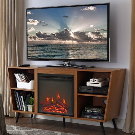 wrought studio demoss tv stand for tvs up to 55 39 39 with fireplace. Black Bedroom Furniture Sets. Home Design Ideas