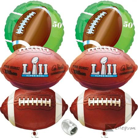 Super Bowl Lii 52 2018 Foil Mylar Balloon Party Pack   7Pc Decoration Kit
