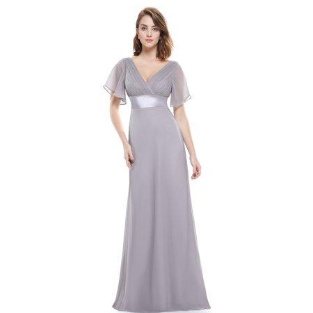 74de2ea588976 Ever-Pretty - Ever-Pretty Womens Vintage Plus Size Long Evening Homecoming  Party Bridesmaid Wedding Dresses for Bride 09890 Gray US16 - Walmart.com