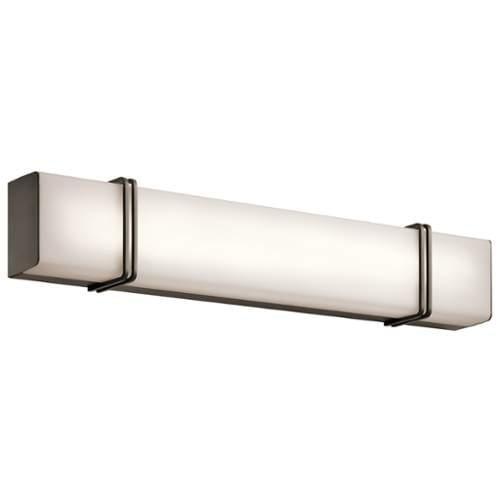 kichler 45839led bathroom fixtures impello indoor lighting vanity light olde bronze walmart
