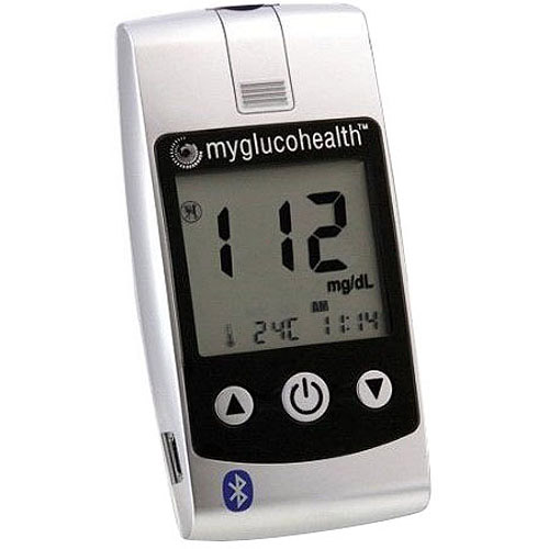 MyGlucoHealth Blood Glucose Meter with Bluetooth Technology