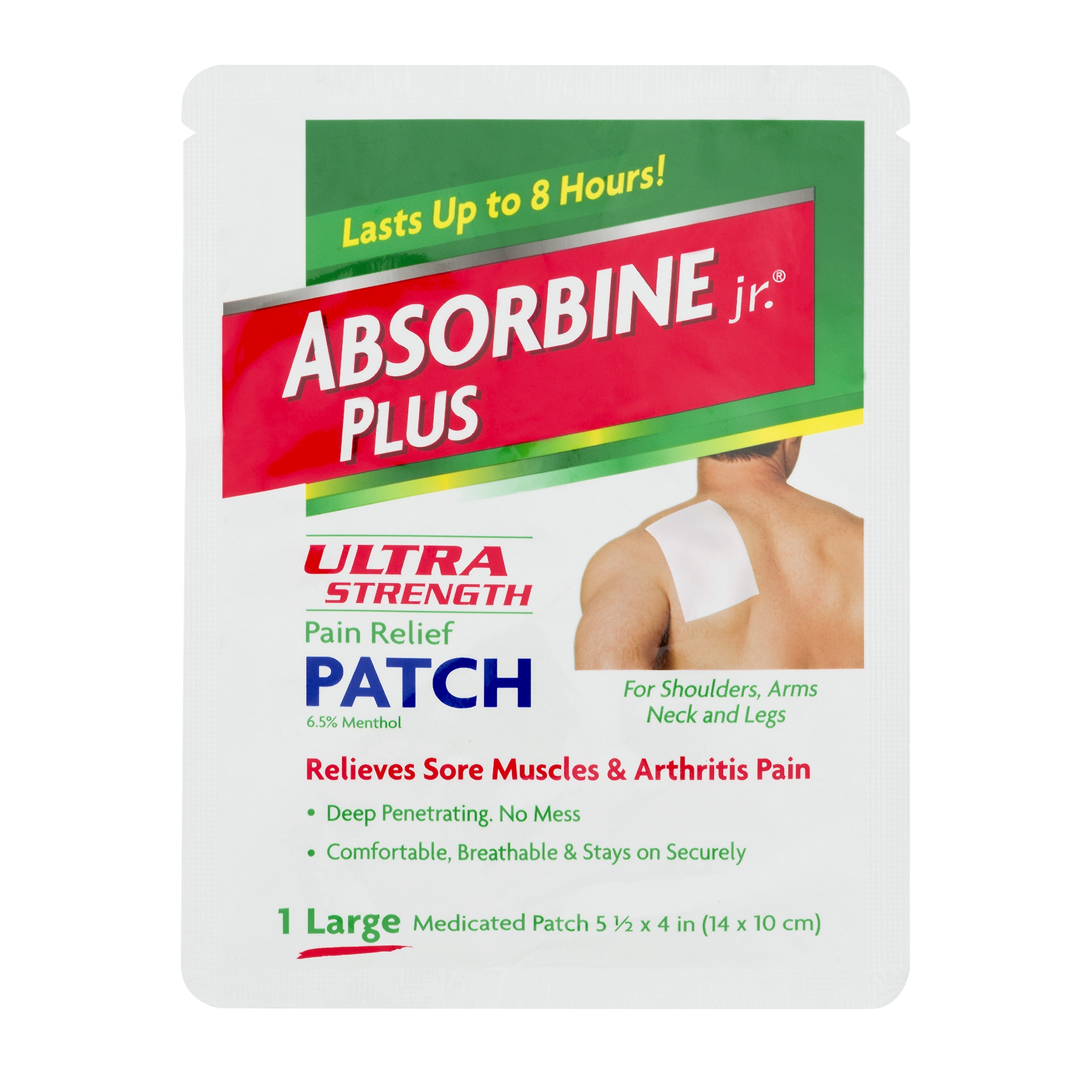 Image of Absorbine Jr. Plus Large Ultra Strength Pain Relief Patch