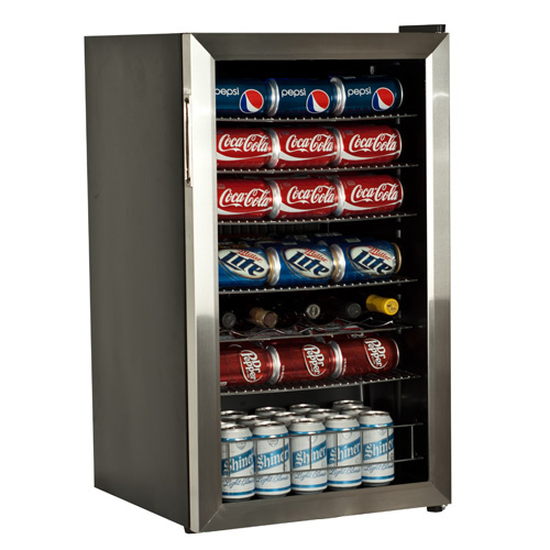 EdgeStar 103 Can 5 Bottle Beverage Cooler  Stainless Steel