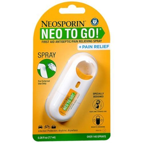 Neosporin Neo To Go! Spray 0.26 oz (Pack of 2)