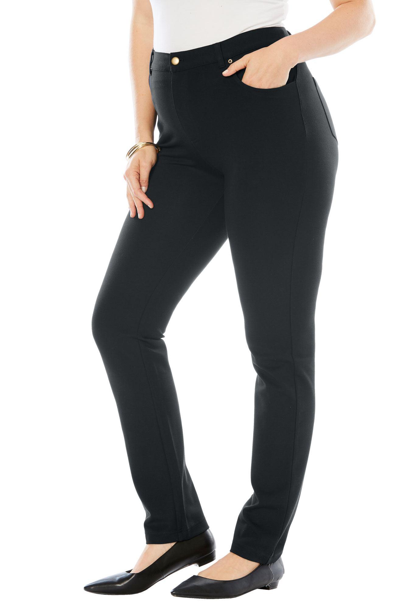 Roaman's Plus Size Ultimate Ponte 5-pocket Pant