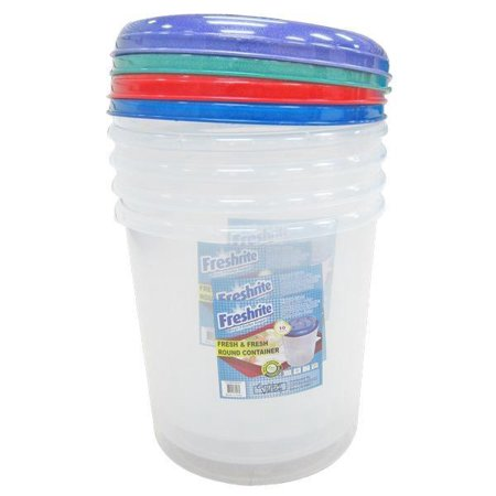 Fresh & Fresh 10 Liter Round Container - CASE OF 12 10 Liter Small Animal Bedding