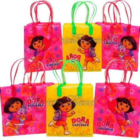 12 Dora the Explorer Party Favor Bags Birthday Candy Treat Favors Gifts Plastic Bolsas De Recuerdo - Dora Party Theme