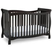 Delta Children Brookside 4-in-1 Convertible Crib, Dark Chocolate