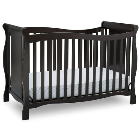 Delta Children Brookside 4-in-1 Convertible Crib, Dark Chocolate