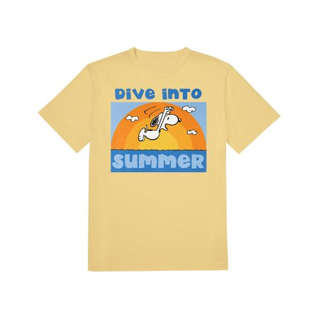 Snoopy Summer (Snoopy Dive Into Summer Yellow T-Shirt, Playtime Beach)