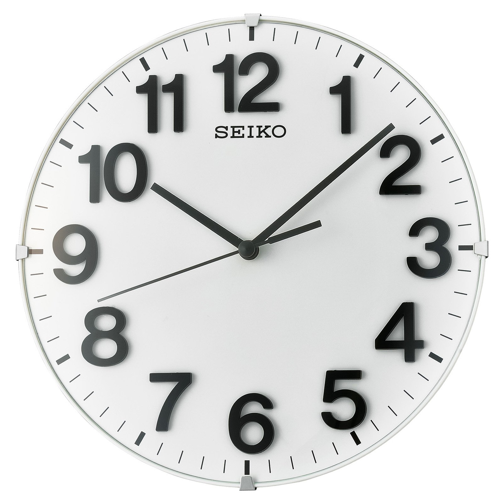Seiko Classic Wall Clock With Quiet Sweep Second Hand   8.25 In. Diameter