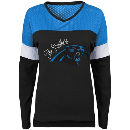 Carolina Panthers Juniors Team Blocker Color Block T-Shirt -