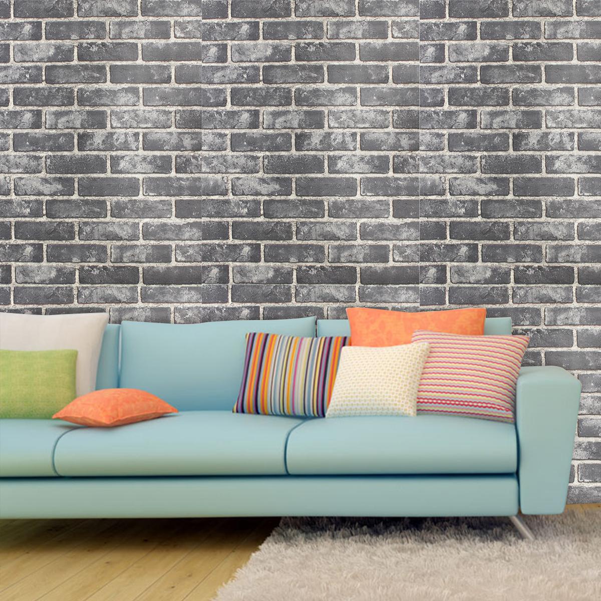 33ft 3D Brick Pattern Effect Wallpaper Bedroom Living Room ...