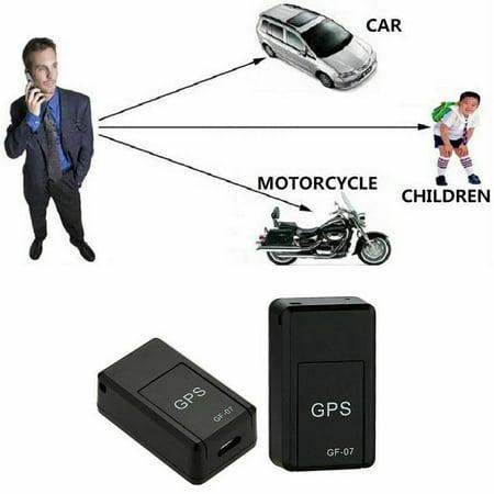 ruiruiNIE GF-07 Mini GPS Tracker Dispositivo de rastreo Localizador en Tiempo Real Localizador magn/ético Mejorado Mini GPS Tracker Negro