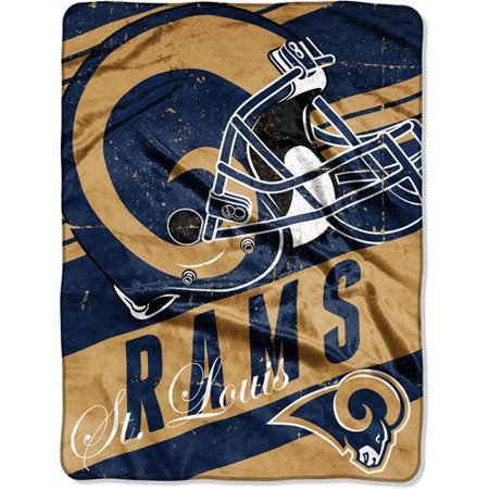 "NFL Micro Raschel Deep Slant 50"" x 60"" Throw, St. Louis Rams by"
