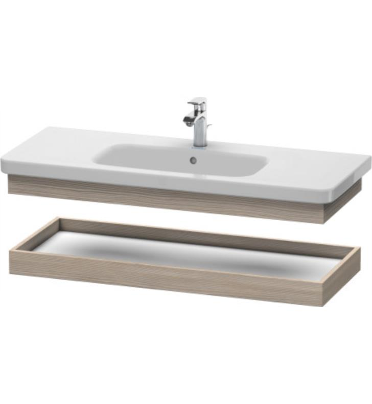 """Duravit DS618303131 DuraStyle 40 1/2"""" Wall Mount Shelf including Console Support for 232012 With Body Finish: Silver Pine, Front Finish: Silver Pine"""