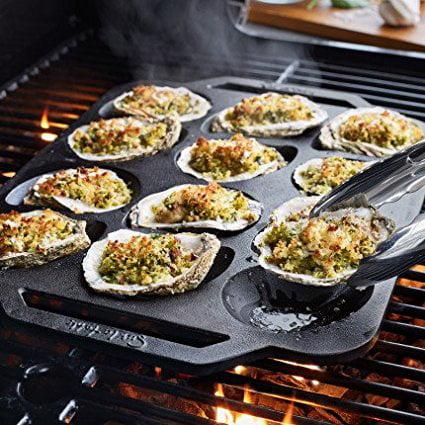 Cast Iron Oyster Pan Cc6446   12 Cavity  Sur La Table Cast Iron Oyster Pan  12 Cavity By Sur La Table