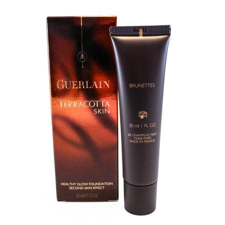 Guerlain Terracotta Skin Healthy Glow Second Skin Effect 02 - Brunettes 1 Oz for Women by Guerlain (Healthy Glow Effect)