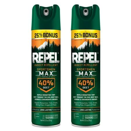 (2 pack) Repel Insect Repellent Sportsmen Max Formula 40% DEET, 8.125-oz ()