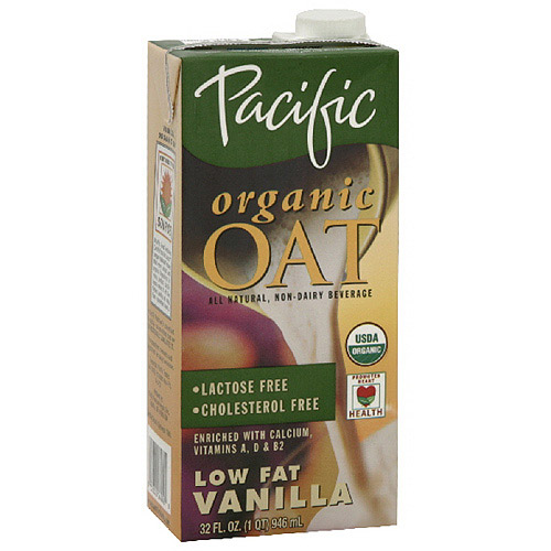 Pacific Natural Foods Organic Oat Vanilla Low Fat Non-Dairy Beverage, 32 oz (Pack of 12)