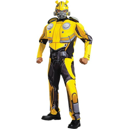 Transformers Bumblebee Movie Bumblebee Classic Muscle Adult Halloween Costume](Transformer Costume Adult)