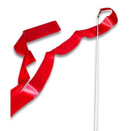 Tea Wand - Red Ribbon Wand, These streamers are great for cheer team and ribbon teams By CSI Cannon Sports