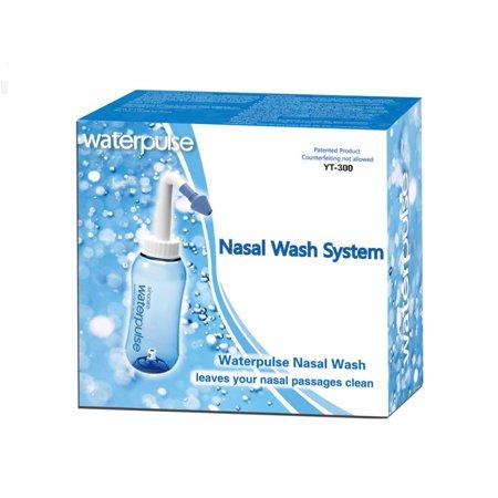 Nasal Irrigation System - Sinus Rinse - Nose Cleaner - 300ml 10oz Neti Pot - Nasal Wash Bottle for Adult Kid Nose Allergic Rhinitis Sinusitis Cold Flu Nursing