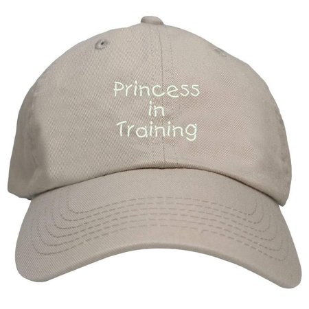Trendy Apparel Shop Princess In Training Embroidered Youth Size Cotton Baseball Cap