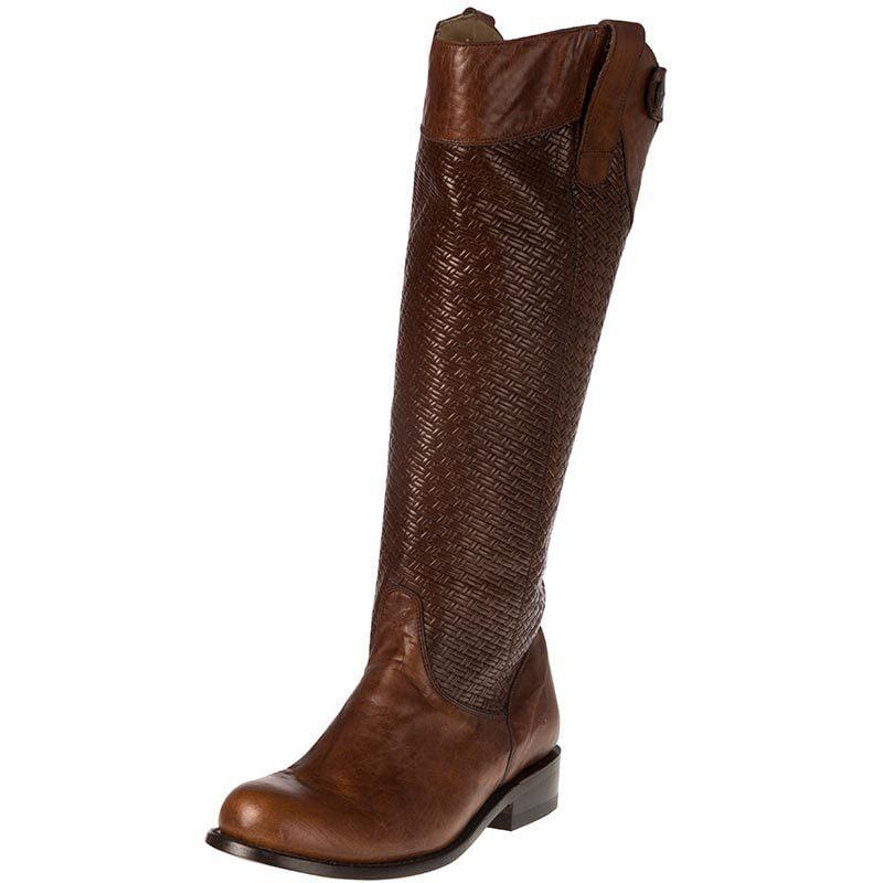 Stetson Footwear Womens Chelsea Basket Weave 16in Riding Boots