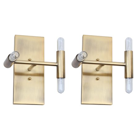 Safavieh Edana Rustic Glam Wall Sconce, Gold, Set of