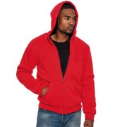 True Rock Men's Sherpa lined Full Zip Hoodie Jacket