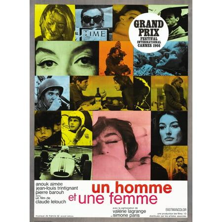 A Man And A Woman Anouk Aimee Pierre Barouh Jean-Louis Trintignant 1966 Movie Poster - 1966 Batman Movie Poster